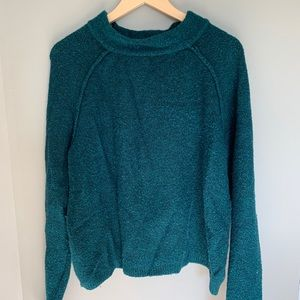 Free People Bubble Turquoise Sweater Mock Neck XS
